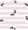 little cute pamda princess seamless pattern vector image vector image