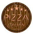 logo for whole round hot pizza vector image