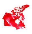 map of canada with water color texture vector image vector image