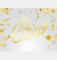 merry christmas calligraphic inscription vector image vector image