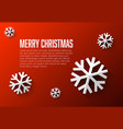 modern flat design christmas card template vector image