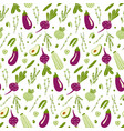 modern seamless pattern with hand drawn green and vector image