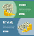 money income and easy payments flyers vector image