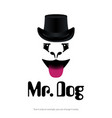 mr dog logo for pet shops vets clinics image vector image vector image