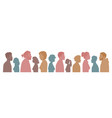 multiracial multicultural diversity silhouettes vector image
