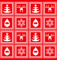 new year christmas red checkered pattern vector image vector image