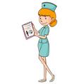 Nurse in green uniform vector image