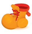 Orange boot vector image vector image