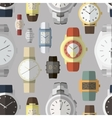 Pattern of watches vector image vector image
