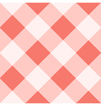 Peach Echo White Diamond Chessboard Background vector image vector image