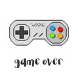 pixel game controller vector image vector image