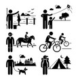 recreational outdoor leisure activities - fishing vector image vector image