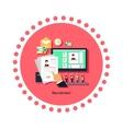 Recruitment Concept Icon Flat Design vector image