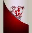 red design with silhouettes of a princess and a vector image vector image