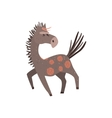 Running Horse Flat Cartoon vector image