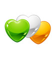 saint patricks day irish flag hearts vector image