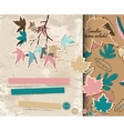 Scrapbooking set about autumn vector image vector image