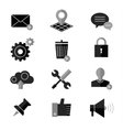 SEO and internet icon set Web website vector image vector image