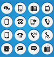 set of 16 editable phone icons includes symbols vector image