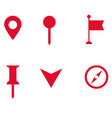 set of map pointer icon on white background flat vector image vector image
