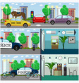 set of police interior posters banners in vector image vector image