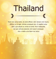 Thailand Travel Landmarks Gold Background vector image