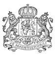 the great seal of luxemburg is a european seal vector image vector image