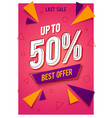 Trendy flat geometric banner with sales best offer