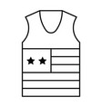 undershirt united state independence day related vector image vector image
