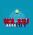 unity ideas in meeting concept business vector image vector image