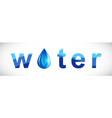 water word drop facet vector image