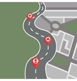 Way and direction plan vector image vector image
