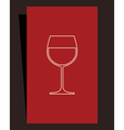 Wine list design vector image