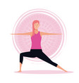 woman in yoga poses vector image vector image