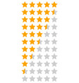 yellow orange 5 star rating infographic vector image