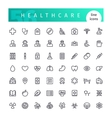Healthcare Line Icons Set vector image