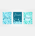 set of backgrounds with bubbles of shampoo or soap vector image