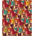 Big group monkey seamless color pattern vector image
