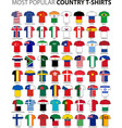 most popular country t-shirts vector image