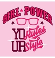Girl power t-shirt design vector image
