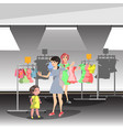 womans in shop buy clothes vector image