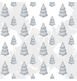 abstract with Christmas tree pattern on a vector image vector image