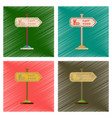 assembly flat shading style icons fast food sign vector image vector image