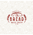 Bakery seamless pattern and emblem vector image vector image