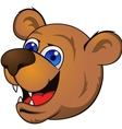 bear head cartoon vector image