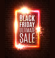 black friday sale background discount banner vector image vector image