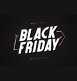 black friday template with gold tag vector image