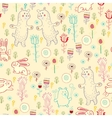 Bright childish seamless pattern with animals vector image vector image