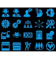 Business service management icons vector image