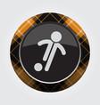 button orange black tartan - football player icon vector image vector image